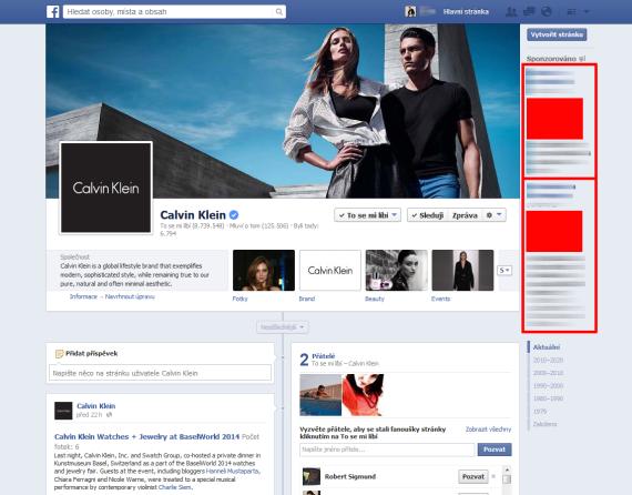 Facebook Retargeting – ukázka umístění reklamní kampaně